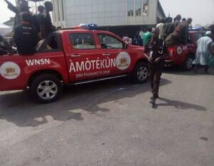 AMOTEKUN ARRESTS FULANI HERDER IN AKURE FOR MULTIPLE CRIMES