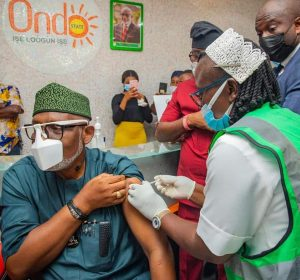 AKEREDOLU TAKES FIRST COVID 19 VACCINE JAB, FLAGS-OFF VACCINATION IN THE STATE