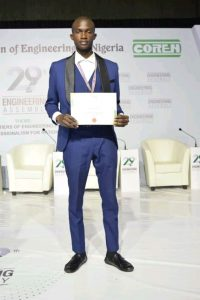 FUTA STUDENT, DANIEL ADENIYI, WINS 2021 COMMITTEE OF DEANS OF ENGINEERING AND TECHNOLOGY OF NIGERIAN UNIVERSITIES COMPETITION